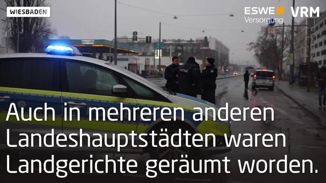 Bombendrohung im Wiesbadener Justizzentrum