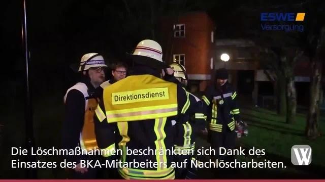 Wiesbaden: Feuer in Wohnheim