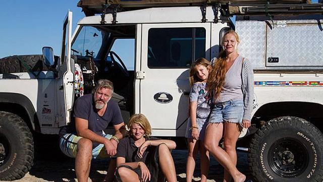 Eine Familie auf Roadtrip