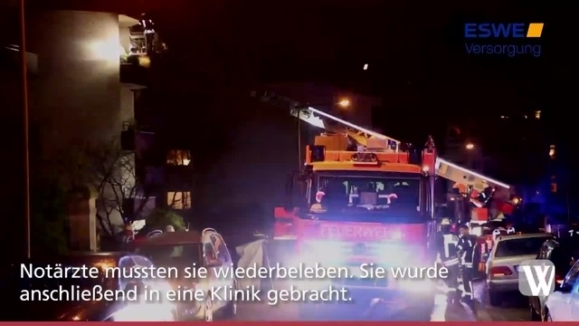 Wiesbaden: Brand in Freseniusstraße