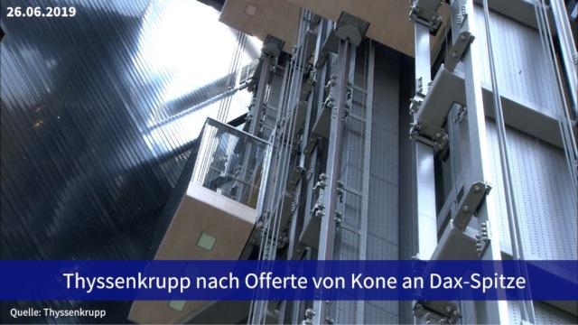 Aktie im Fokus: Thyssenkrupp nach Offerte von Kone an Dax-Spitze