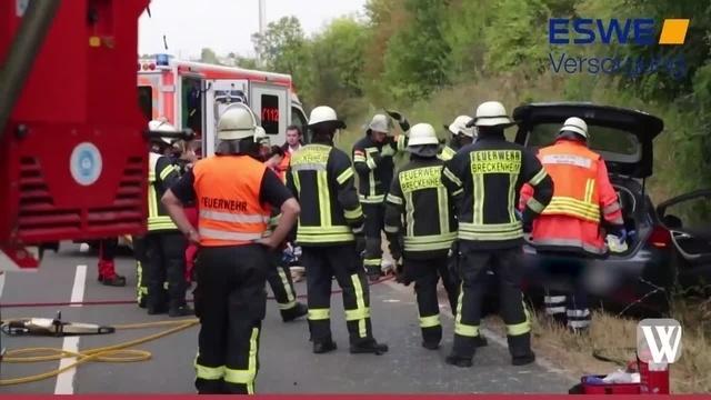 Wiesbaden: Unfall zwischen Breckenheim und Wallau