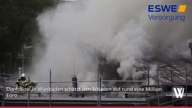 Dachstuhlbrand in Aarbergen