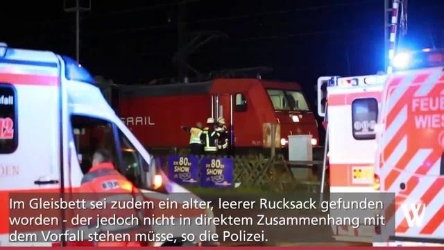 Mainz-Kastel: Person von Zug erfasst?