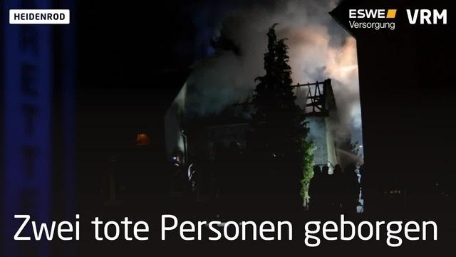 Zwei Tote nach Wohnhausbrand in Heidenrod