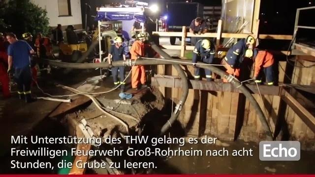 Baugrube in Groß-Rohrheim läuft voll