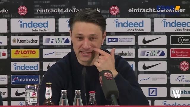 Eintracht Frankfurt vor dem Spiel gegen Borussia Dortmund