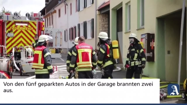 Ingelheim: Brand in Tiefgarage