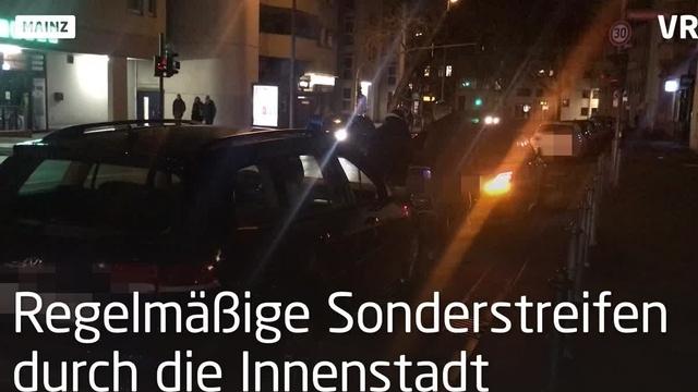 Mainz: Polizeieinsatz gegen Autoposer