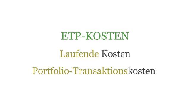 ETP - Kosten & Performance