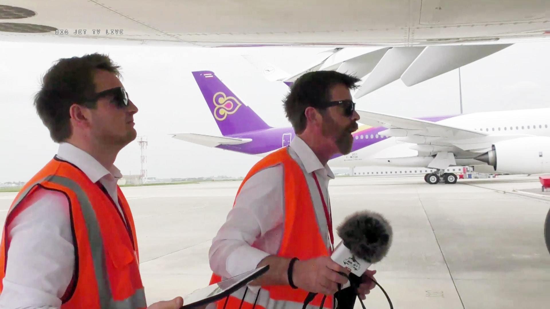 A350-Auslieferung Tag 1, 2. Teil