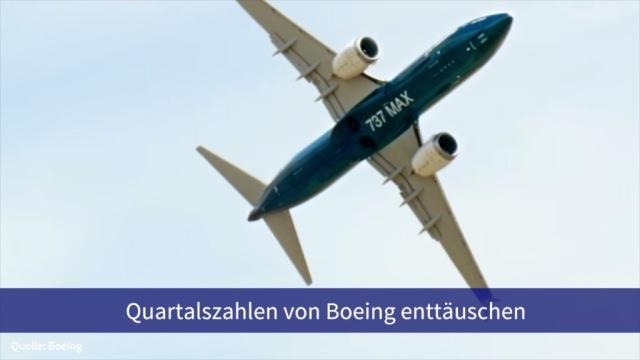 Aktie im Fokus: Quartalszahlen von Boeing enttäuschen