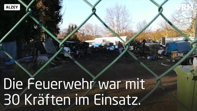 Alzey: Schaden von rund 50.000 Euro nach Werkstattbrand