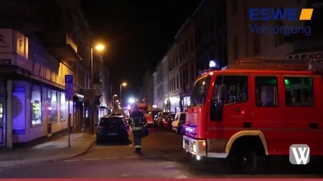 Kellerbrand in der Wiesbadener Wellritzstraße