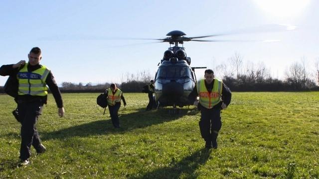 Schleierfahndung per Hubschrauber
