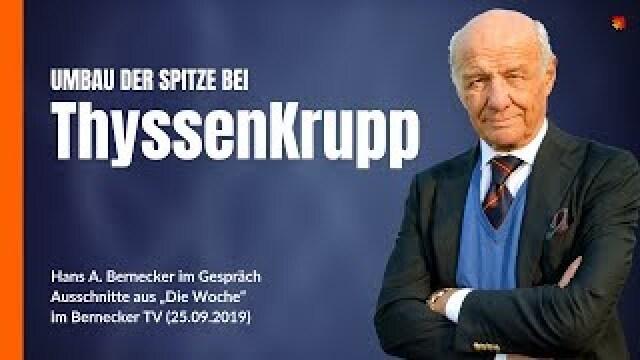 Wechsel an der Spitze von ThyssenKrupp? Was ist davon zu halten?