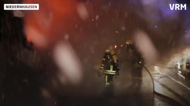 Lkw-Brand auf der A3
