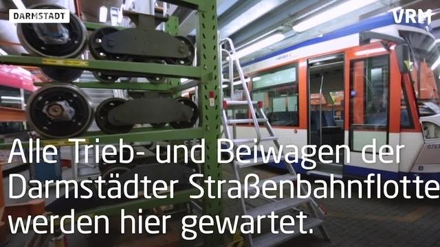 In der Straßenbahnwerkstatt Darmstadt