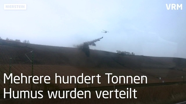 Helikopter-Düngung am Roten Hang