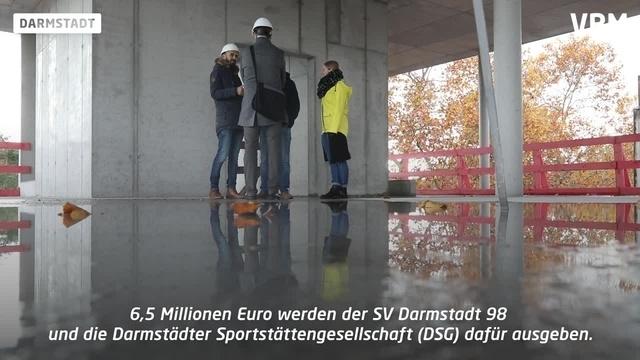Neubau eines Funktionsgebäudes am Stadion in Darmstadt