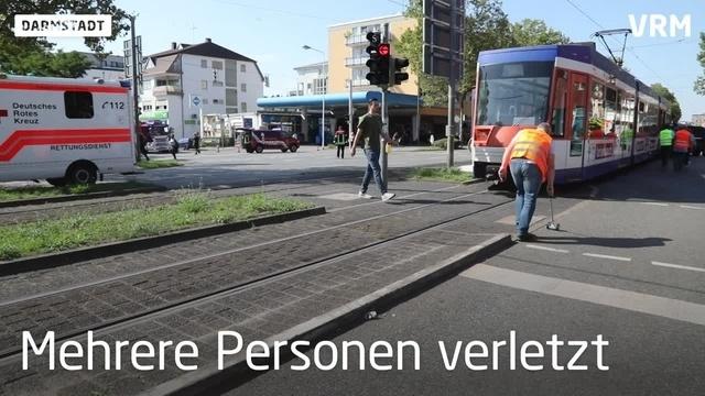 Schwerer Unfall in Darmstadt