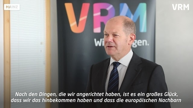 Olaf Scholz im Interview in der VRM in Mainz