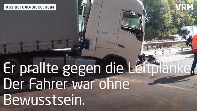 Fahrer stirbt am Steuer: Lkw-Unfall auf A61 bei Gau-Bickelheim