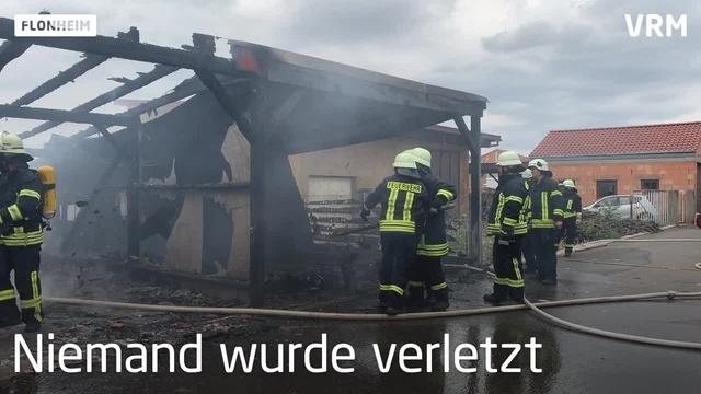 Brennender Carport in Flonheim