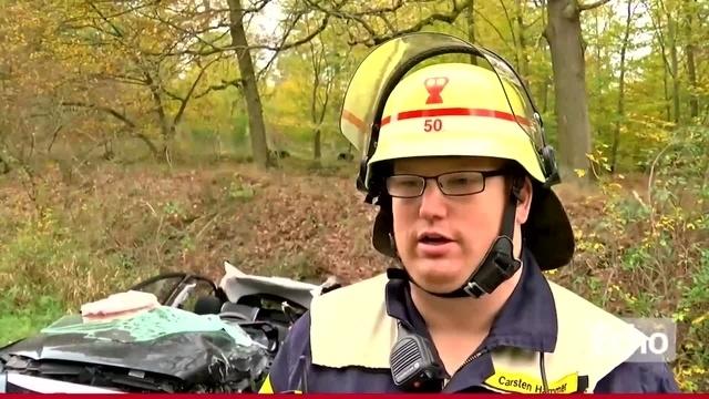 Schwerer Verkehrsunfall zwischen Messel und Dieburg