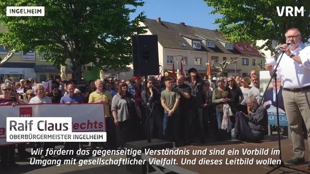 Ingelheim: 2000 Teilnehmer bei Demo gegen Rechts
