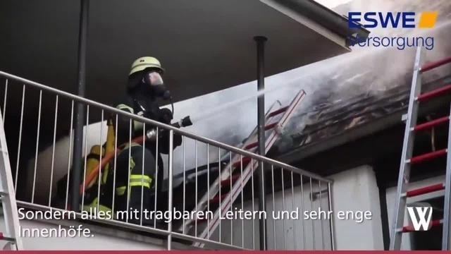 Dachstuhlbrand in Hochheim