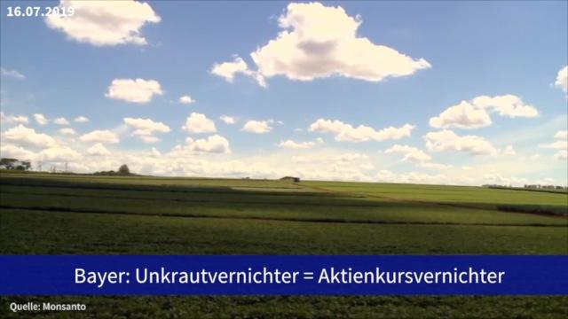 Aktie im Fokus: Bayer: Unkrautvernichter = Aktienkursvernichter