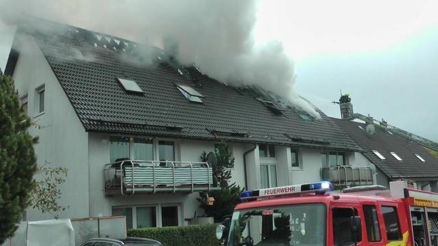 Zwei Verletzte bei Wohnhausbrand in Dillenburg