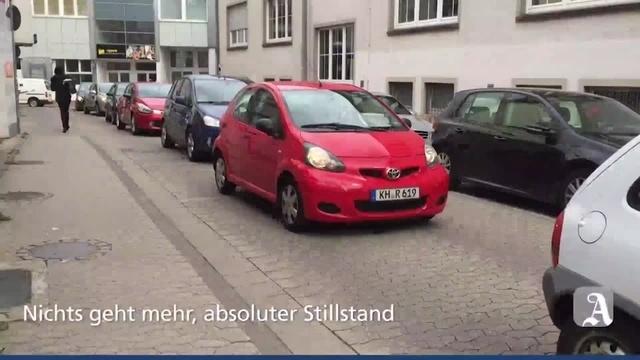 Stau in der Bad Kreuznacher Innenstadt