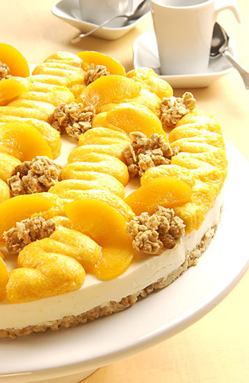 Pfirsich-Knusper-Torte