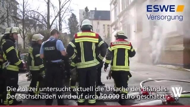 Wiesbaden: Kellerbrand in der Uhlandstraße