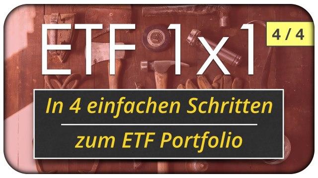 In 4 einfachen Schritten zum eigenen ETF Portfolio - passives Investieren