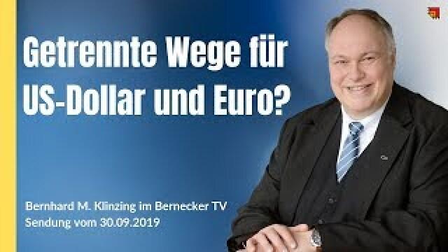 Getrennte Wege von US-Dollar und Euro?