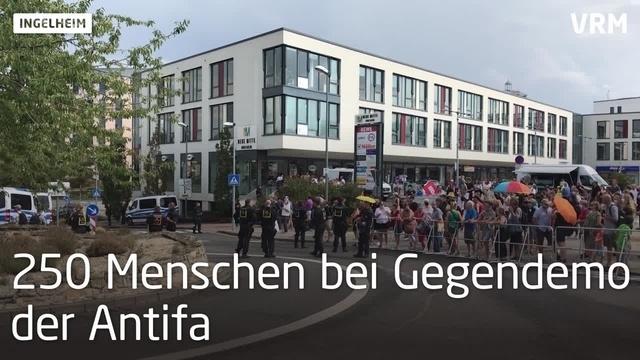 Die Rechte demonstriert in Ingelheim