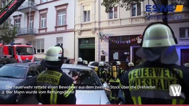 Wiesbaden: Brand in Mehrfamilienhaus