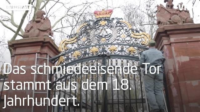 Orangerie in Darmstadt hat ihr schmuckes Tor zurück