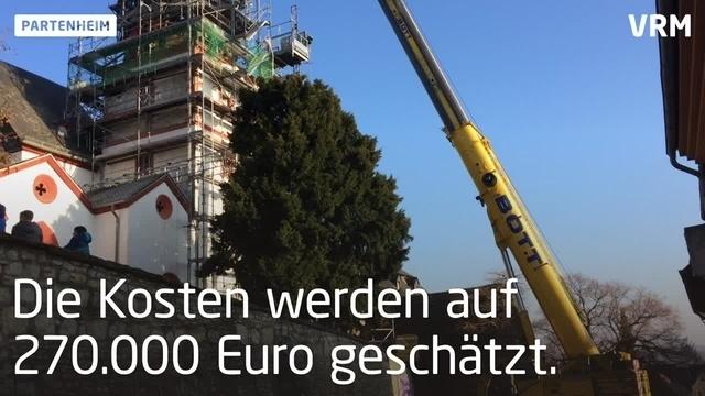 Alte Kirchturmspitze in Partenheim hat ausgedient