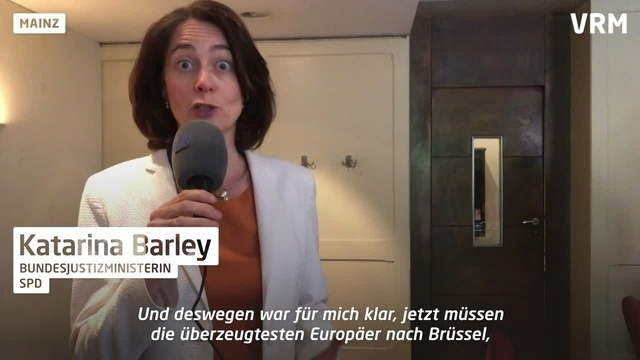 Mainz: Bundesjustizministerin Barley im Interview
