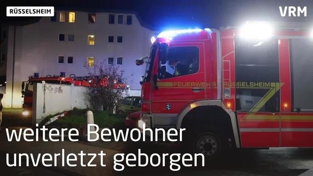 Rüsselsheim: Frau bei Wohnungsbrand schwer verletzt