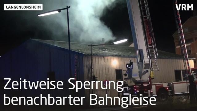Langenlonsheim: Ein Verletzter bei Feuer in Schreinerei