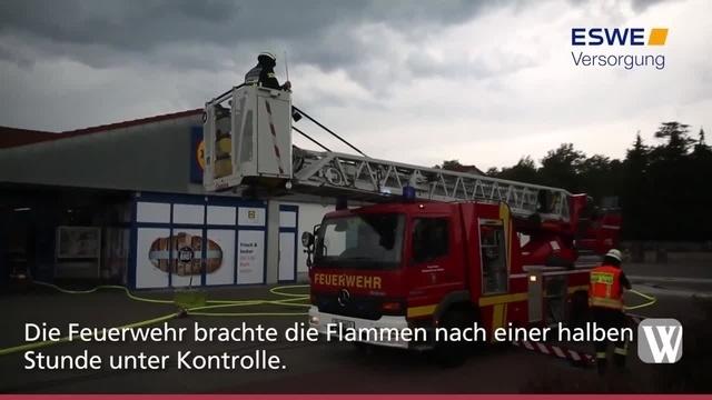 Rüdesheim: Brand in Lidl-Filiale