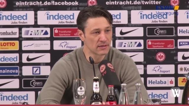 Eintracht Frankfurt vor dem Spiel gegen den 1. FC Köln