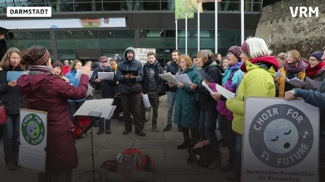 Klimademo in Darmstadt