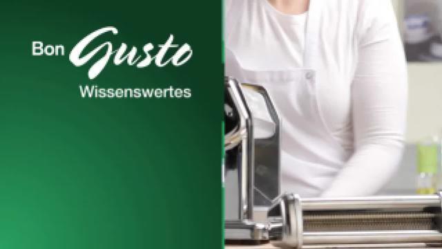 Pasta mit der Nudelmaschine
