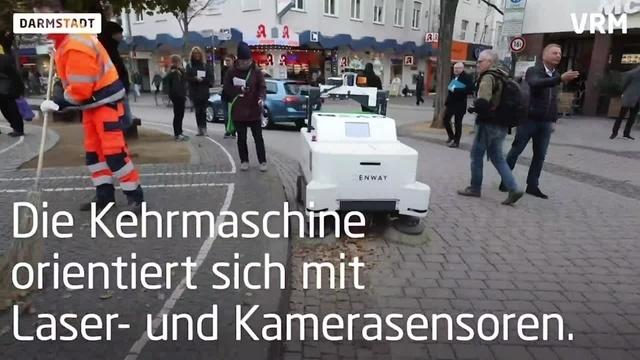 Darmstadt stellt autonome Kehrmaschine vor